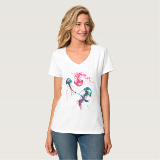Camisa do V-Pescoço das medusa