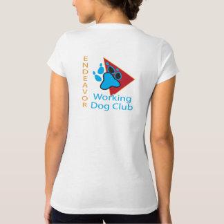 Camisa do V-pescoço do logotipo do clube do cão de
