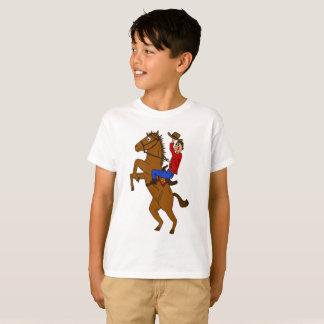 Camisa do vaqueiro e do cavalo