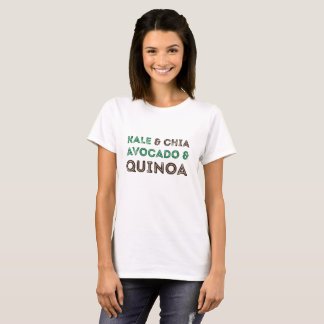 Camisa do vegetariano do Vegan do Quinoa do