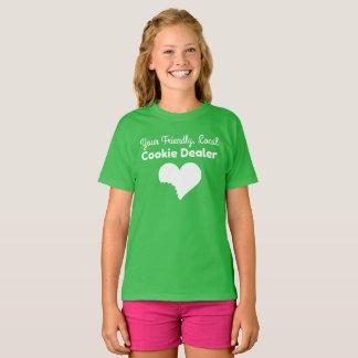 Camisa do vendedor do biscoito da escuteira