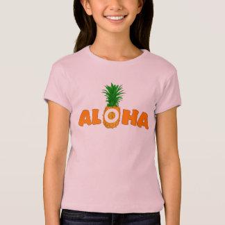 Camisa do verão T do abacaxi Aloha - para meninas