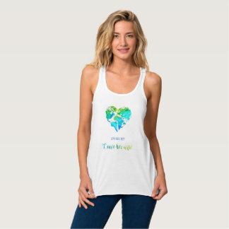 Camisa do viagem do mapa do mundo do coração na