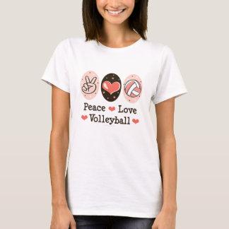 Camisa do voleibol T do amor da paz