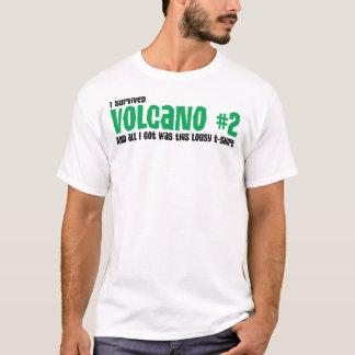 """Camisa do vulcão a #2 dos homens """"eu sobrevivi"""""""