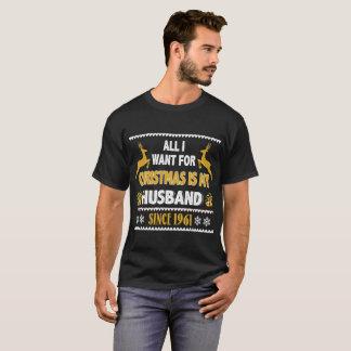 Camisa do Xmas T para o aniversário desde 1961