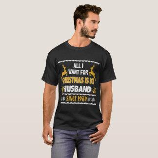 Camisa do Xmas T para o aniversário desde 1989