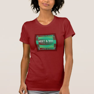 Camisa DOCE & ÁCIDA para Mulher-Vermelho/verde