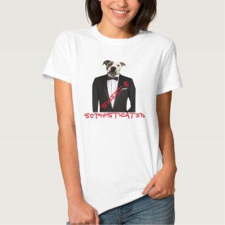 Camisa doce e sofisticada do pitbull - na moda tshirts