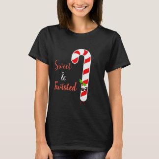 Camisa doente e torcida do bastão de doces