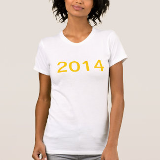 Camisa dos 2014 felizes anos novos camisetas