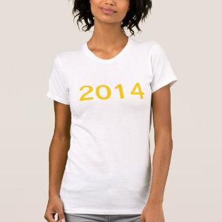 Camisa dos 2014 felizes anos novos tshirts
