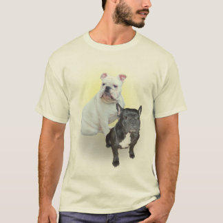 Camisa dos buldogues ingleses e franceses