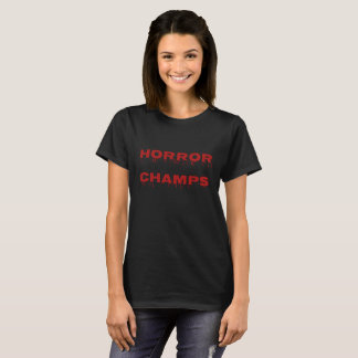 Camisa dos campeões do horror - mulheres