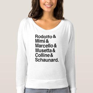 Camisa dos caráteres de Bohème do La