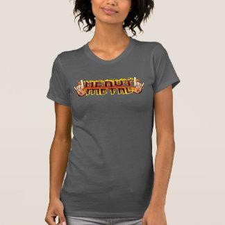 Camisa dos chifres do fogo do metal pesado de S