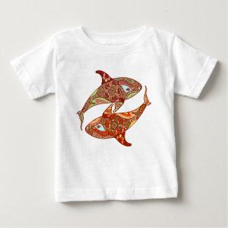 Camisa dos childs das baleias do amor