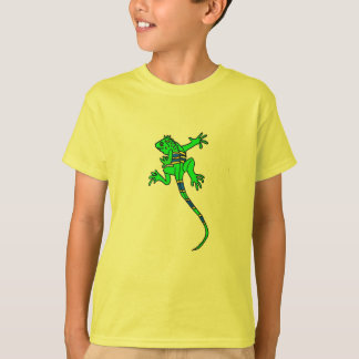 Camisa dos desenhos animados da iguana do ANÚNCIO