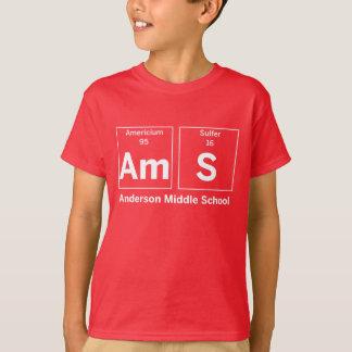 Camisa dos elementos da escola secundária de