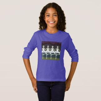 Camisa dos esqueletos do Dia das Bruxas
