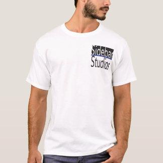 Camisa dos estúdios do Sidebar com matéria azul