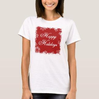 Camisa dos flocos de neve boas festas