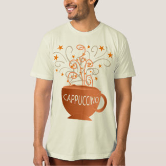 camisa dos homens do cappuccino camisetas