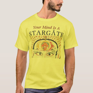 camisa dos homens do stargate da mente