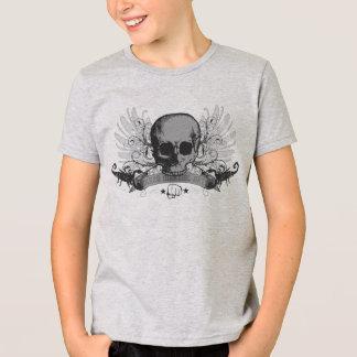 Camisa dos meninos do montagem do crânio do