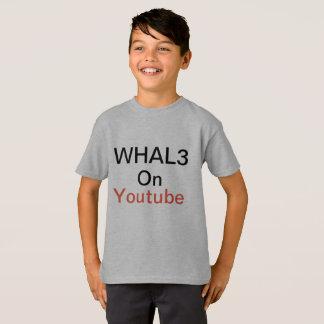 Camisa dos meninos Whal3 macia