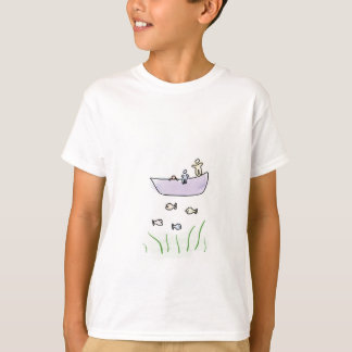 Camisa dos miúdos - camisa da pesca/barco dos camisetas