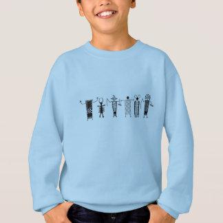 Camisa dos miúdos dos povos do desenho da caverna