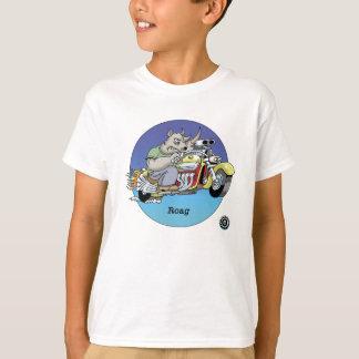 Camisa dos miúdos T - Roag, motociclistas é © dos
