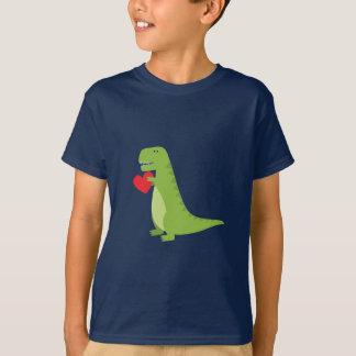 Camisa dos namorados do dinossauro de T-Rex