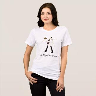 Camisa dos Newlyweds de Las Vegas (noiva & noivo)