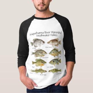 Camisa dos peixes de água doce