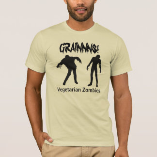 Camisa dos zombis do vegetariano