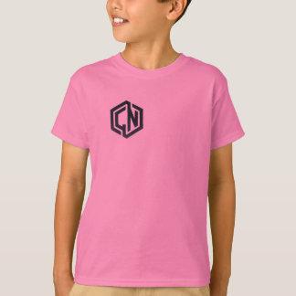 camisa dourada cor-de-rosa do logotipo de Nuggit