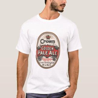 Camisa dourada da cerveja inglesa pálida T da