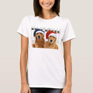 Camisa dourada do Natal T