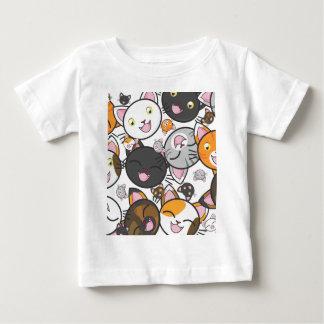 Camisa e Bodysuit do bebê dos gatinhos de Kawaii