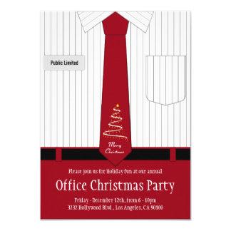 Camisa e laço da festa de Natal do escritório Convite 11.30 X 15.87cm