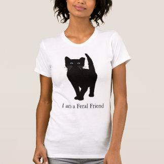 Camisa eartipped preto do gato T