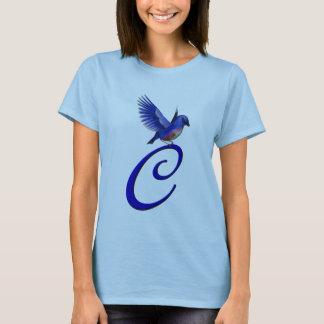 Camisa elegante inicial do Bluebird T do monograma