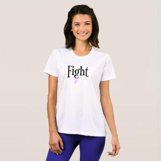 Camisa encorajadora da consciência do cancro da