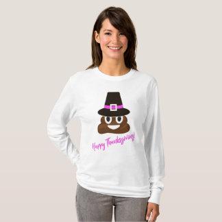 Camisa engraçada da acção de graças do peregrino