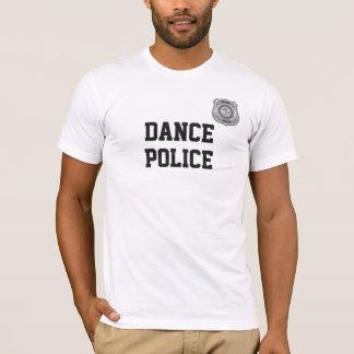 Camisa engraçada da dança do crachá da polícia da