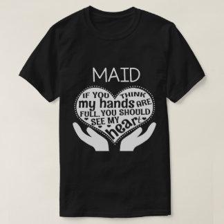 Camisa engraçada da empregada doméstica. Presente