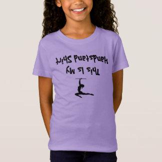 Camisa engraçada da menina da ginástica para