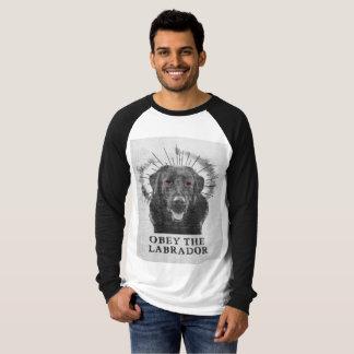 Camisa engraçada de Labrador - obedeça o Labrador